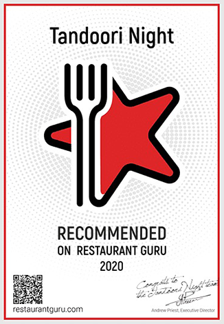 Tandoori Night Award for Recommendation